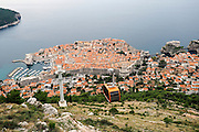 Croatia, Dubrovnik, the port and Walled Old City