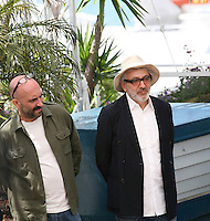 Gaspar Noe and Elia Suleiman at the 7 Dias En La Habana photocall at the 65th Cannes Film Festival France. Wednesday 23rd May 2012 in Cannes Film Festival, France.