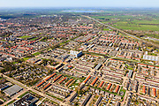 Nederland, Friesland, Gemeente Smallingerland, 01-05-2013; Drachten, de wijk De Venen, huizen en huisjes netjes op een rij.<br /> Residential area in the city of Drachten, family houses in ranks.<br /> luchtfoto (toeslag op standard tarieven)<br /> aerial photo (additional fee required)<br /> copyright foto/photo Siebe Swart