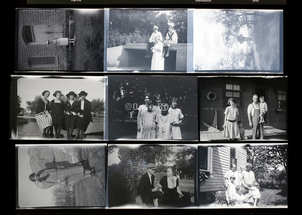 concactsheet of old photos with groups of people posing rural USA