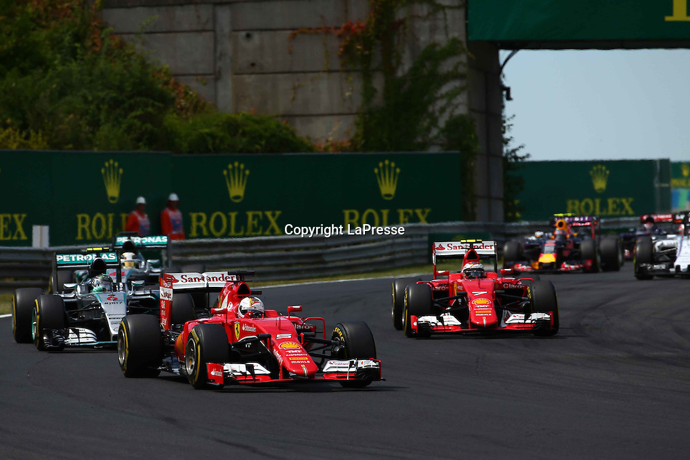 &copy; Photo4 / LaPresse<br /> 26/07/2015 Budapest, Hungary<br /> Sport <br /> Grand Prix Formula One Hungary 2015<br /> In the pic: Sebastian Vettel (GER) Scuderia Ferrari SF15-T