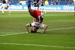 Ruud Van Nistelrooy takes a tumble.