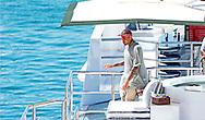 SAINT TROPEZ - American R & B singer Chris brown parties on his yacht Highlander in the harbour of Saint Tropez. COPYRIGHT ROBIN UTRECHT