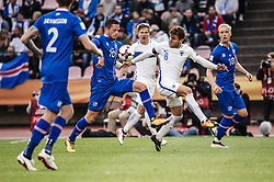 September 2, 2017 - Tampere, Finland - Iceland's Gylfi Sigurdsson and Finland's Perparim Hetemaj fight for the ball during the FIFA World Cup 2018 Group I football qualification match between Finland and Iceland in Tampere, Finland, on September 2, 2017. (Credit Image: © Antti Yrjonen/NurPhoto via ZUMA Press)