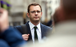 Former editor of the News of the World and former Communications Director to the Prime Minister David Cameron Andy Coulson leaves the Leveson Inquiry after giving evidence, Thursday May 10, 2012. Photo by i-images