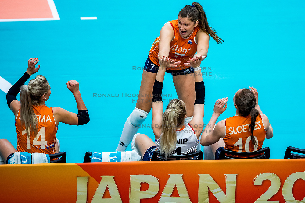 19-10-2018 JPN: Semi Final World Championship Volleyball Women day 18, Yokohama<br /> Serbia - Netherlands / Juliet Lohuis #7 of Netherlands