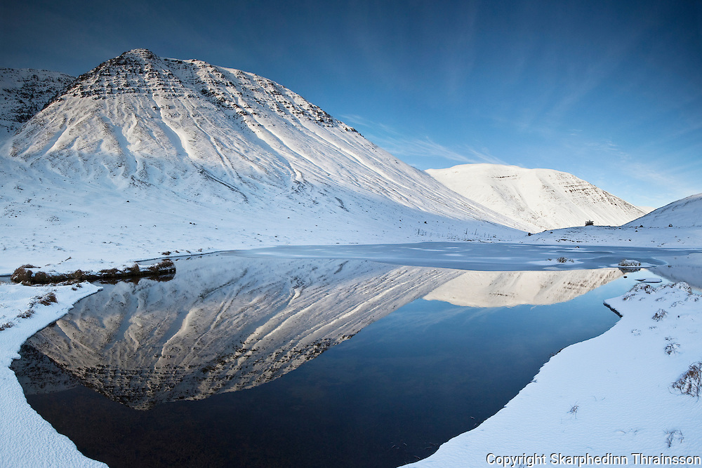 Winter in Skagafjordur, north Iceland