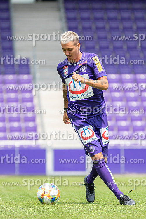 16.07.2019, Generali Arena, Wien, AUT, 1. FBL, FK Austria Wien, Fototermin, im Bild Maximilian Sax // Maximilian Sax during the official team and portrait photoshooting of tipico Bundesliga Club FK Austria Wien for the upcoming Season at the Generali Arena in Vienna, Austria on 2019/07/16. EXPA Pictures © 2019, PhotoCredit: EXPA/ Florian Schroetter