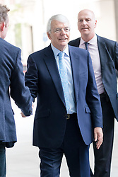 © Licensed to London News Pictures. 22/07/2018. London, UK.  John Major, former Prime Minister arrives at BBC Broadcasting House to appear for an interview on the Andrew Marr show.  Photo credit: Vickie Flores/LNP