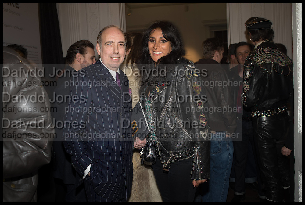 MICK JONES; SERENA REES, Private view, Paul Simonon- Wot no Bike, ICA Nash and Brandon Rooms, London. 20 January 2015