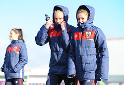 Bristol City Women inspect the pitch prior to kick-off - Mandatory by-line: Nizaam Jones/JMP - 27/01/2019 - FOOTBALL - Stoke Gifford Stadium - Bristol, England - Bristol City Women v Yeovil Town Ladies- FA Women's Super League 1