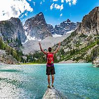 Ivan Synder at Delta Lake in the Teton National Park