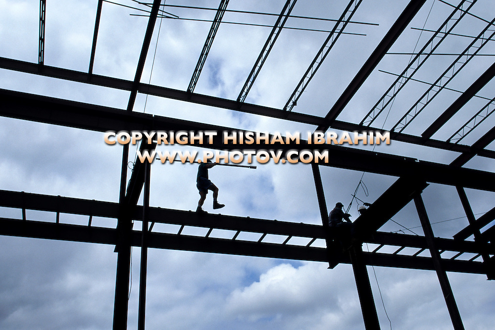 Steel Beam Building Construction, Washington DC, USA