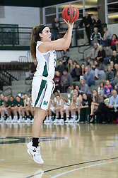 12 December 2015:  Nina Anderson during an NCAA women's basketball game between the Wisconsin Stevens Point Pointers and the Illinois Wesleyan Titans in Shirk Center, Bloomington IL