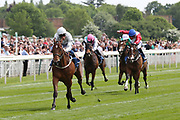 THREADING (6) ridden by jockey William Buick and trained by Mark Johnston winning The Listed Longines Irish Champions Weekend Filles Stakes over 1m (£50,000) at the York Dante Meeting at York Racecourse, York, United Kingdom on 18 May 2018. Picture by Mick Atkins.