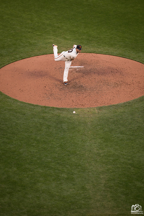 San Francisco Giants relief pitcher Hunter Strickland (60) pitches against the New York Mets at AT&T Park in San Francisco, Calif., on August 21, 2016. (Stan Olszewski/Special to S.F. Examiner)