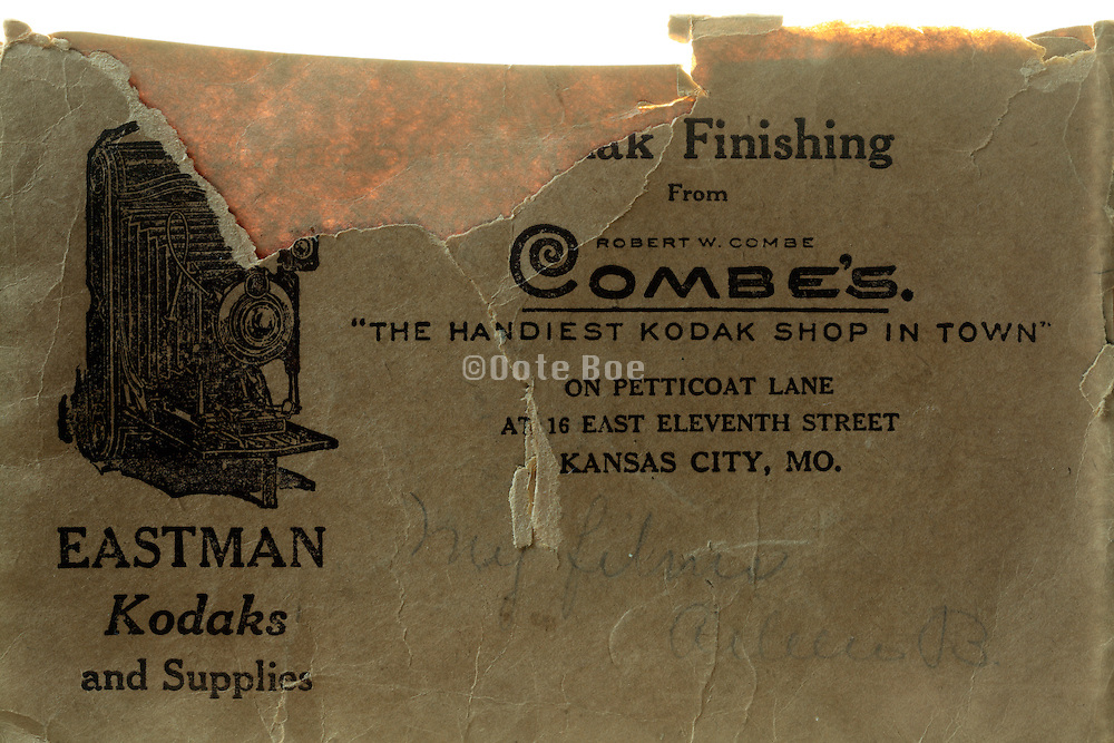 vintage Eastman Kodak film envelope 1920s