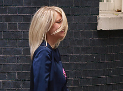 Esther McVey - New Minister for Employment. <br /> Esther McVey leaves 10 Downing street, the British Prime Minister David Cameron's residence,  to be named Minister of Employment in the British Government reshuffle, 10 Downing Street, London, United Kingdom. Monday, 7th October 2013. Picture by Max Nash / i-Images