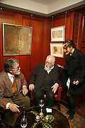 JUSTIN DE VILLENEUVE, PETER BLAKE AND DAISY BATES, Sir Peter Blake and Poppy De Villeneuve host a party with University of the Arts London at the Arts Club, Dover Street, London. 20 APRIL 2006<br />