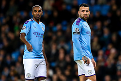 Fernandinho of Manchester City and Nicolas Otamendi of Manchester City - Mandatory by-line: Robbie Stephenson/JMP - 26/11/2019 - FOOTBALL - Etihad Stadium - Manchester, England - Manchester City v Shakhtar Donetsk - UEFA Champions League Group Stage