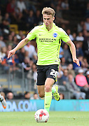 Solly March on the attack during the Sky Bet Championship match between Fulham and Brighton and Hove Albion at Craven Cottage, London, England on 15 August 2015. Photo by Matthew Redman.
