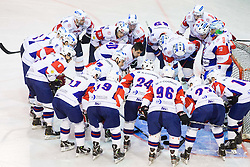 Team Slovenia during Friendly Ice-hockey match between National teams of Slovenia and Italy on April 5, 2013 in Ice Arena Tabor, Maribor, Slovenia. (Photo By Vid Ponikvar / Sportida)