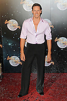 LONDON - SEPTEMBER 11: Brendan Cole attended the Strictly Come Dancing Launch at the BBC Television Centre, London, UK. September 11, 2012. (Photo by Richard Goldschmidt)