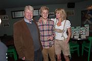 STANLEY JOHNSON; RACHEL JOHNSON; OLIVER, Party to celebrate the publication of 'Winter Games' by Rachel Johnson. the Draft House, Tower Bridge. London. 1 November 2012.