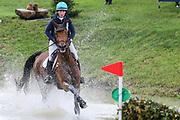 Iron IV ridden by Selina Milnes in the Equi-Trek CCI-L4* Cross Country during the Bramham International Horse Trials 2019 at Bramham Park, Bramham, United Kingdom on 8 June 2019.