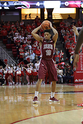 08 February 2018:  Aaron Cook during a College mens basketball game between the Southern Illinois Salukis and Illinois State Redbirds in Redbird Arena, Normal IL