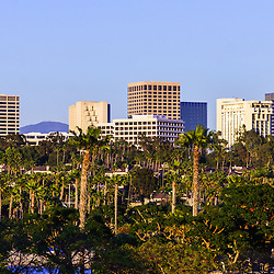 Orange County California office buildings picture.  Buildings are in Newport Beach which is an affluent city in Orange County California.