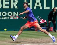 Roger Federer (SUI)<br /> <br /> Tennis - Gerry Weber Open - ATP 500 -  Gerry Weber Stadion - Halle / Westf. - Nordrhein Westfalen - Germany  - 21 June 2015. <br /> &copy; Juergen Hasenkopf
