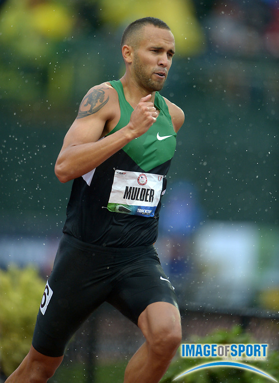 Jun 22, 2012; Eugene, OR, USA; Tyler Mulder was the top qualifier in the 800m in 1:46.81 in the 2012 U.S. Olympic Team Trials at Hayward Field.
