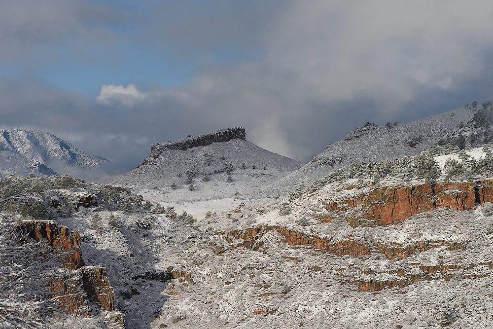 Snow on Red Rocks, Lyons, Colorado