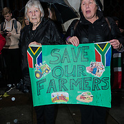 Stop killing South Africans Farmer's and rape in South Africa 52 farmers are brutally murder daily in South Africa protest outside Southampton Friday house 4th November 2017