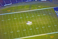 Aerial view of Qualcomm Stadium home of the  San Diego Chargers Aerial views of artistic patterns in the earth.