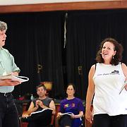 Frank Hankey (Giorgi) and Adrienne Wilson (Mrs. Krump/Carla)