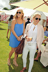 Left to right, CHELSY DAVY and HANNELI RUPERT at the Cartier Queen's Cup Polo Final, Guards Polo Club, Windsor Great Park, Berkshire, on 17th June 2012.