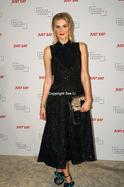 Donna Air attends The British Takeaway Awards 2016, Monday 5th December at The Savoy in London,,UK. Photo by See Li