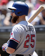 CHICAGO - JULY 02:  Jonathan Lucroy #25 of the Texas Rangers looks on against the Chicago White Sox on July 2, 2017 at Guaranteed Rate Field in Chicago, Illinois.  The White Sox defeated the Rangers 6-5.  (Photo by Ron Vesely) Subject:   Jonathan Lucroy