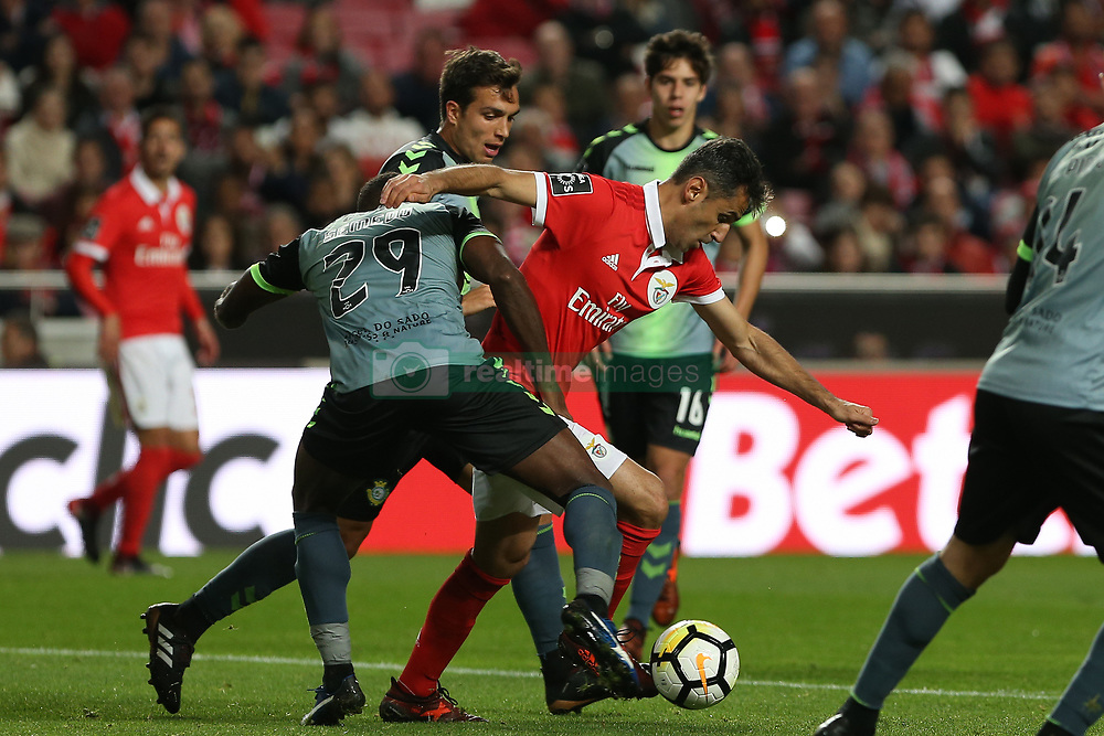 November 26, 2017 - Lisbon, Lisbon, Portugal - Benficas forward Jonas from Brazil (C) during the Premier League 2017/18 match between SL Benfica and FC Vitoria Setubal, at Luz Stadium in Lisbon on November 26, 2017. (Credit Image: © Dpi/NurPhoto via ZUMA Press)