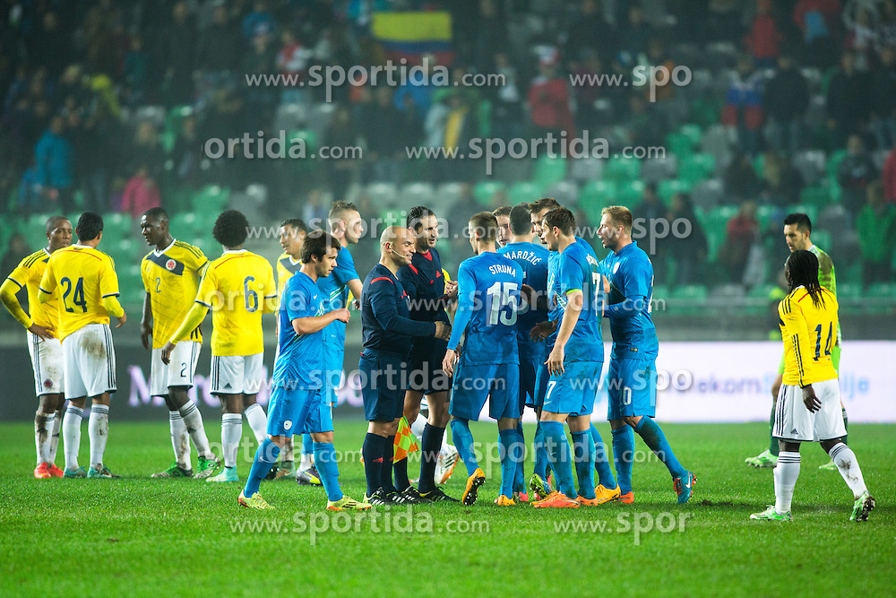 Players after friendly football match between National teams of Slovenia and Colombia, on November 18, 2014 in SRC Stozice, Ljubljana, Slovenia. Photo by Matic Klansek Velej / Sportida