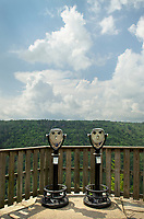 Viewpoint Binoculars at Pendleton Point Overlook. Blackwater Falls West Virginia