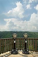 Viewpoint Binoculars at Pendleton Point Overlook. Blackwater Falls West Virginia