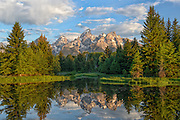 The Tetons at Schwabacher Landing, Grand Teton National Park, Wyoming