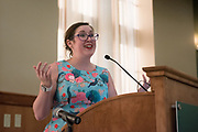Ohio University Women's Center Director Geneva Murray speaks during the Women's Mentoring Meet and Greet event on Sept. 4, 2018 in Walter Rotunda. Photo by Hannah Ruhoff