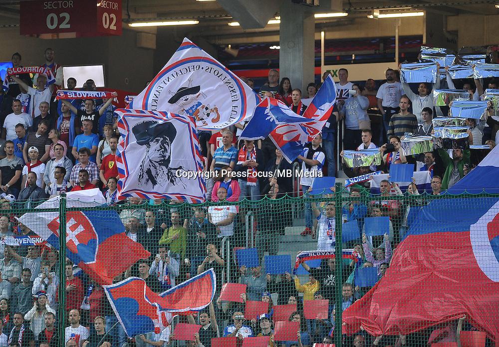 2016.06.04 Trnava, Slowacja<br /> Pilka Nozna Reprezentacja Mecz towarzyski<br /> Slowacja - Irlandia Polnocna <br /> N/z Fans Slovakia<br /> Foto Rafal Rusek / PressFocus<br /> <br /> 2016.06.04 Trnava, Slovakia<br /> Football Friendly Game<br /> Slovakia - Northern Ireland<br /> Fans Slovakia<br /> Credit: Rafal Rusek / PressFocus