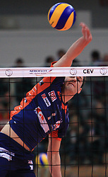Alen Pajenik at volleyball match of CEV Indesit Champions League Men 2008/2009 between Trentino Volley (ITA) and ACH Volley Bled (SLO), on November 4, 2008 in Palatrento, Italy. (Photo by Vid Ponikvar / Sportida)