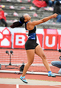 Denia Caballero (CUB)wins the women's discus at 213-7 (65.10m) during the Bauhaus-Galan in a IAAF Diamond League meet at Stockholm Stadium in Stockholm, Sweden on Thursday, May 30, 2019. (Jiro Mochizuki/Image of Sport)