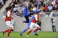 FOOTBALL - FRENCH CHAMPIONSHIP 2010/2011 - L2 - STADE DE REIMS v EVIAN TG - 20/05/2011 - PHOTO JEAN MARIE HERVIO / DPPI - YANNICK SAGBO (ETG)